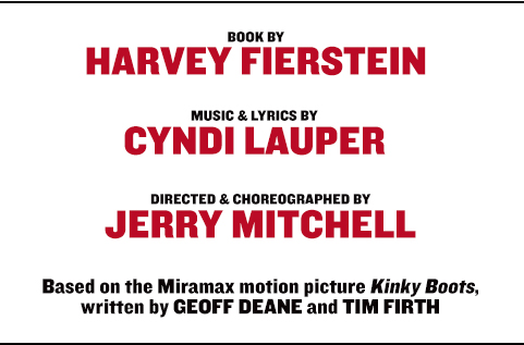 Book by Harvey Fierstein, Music & Lyrics by Cyndi Lauper, Directed & Choreographed by Jerry Mitchell